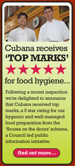Cubana wins hygiene award.