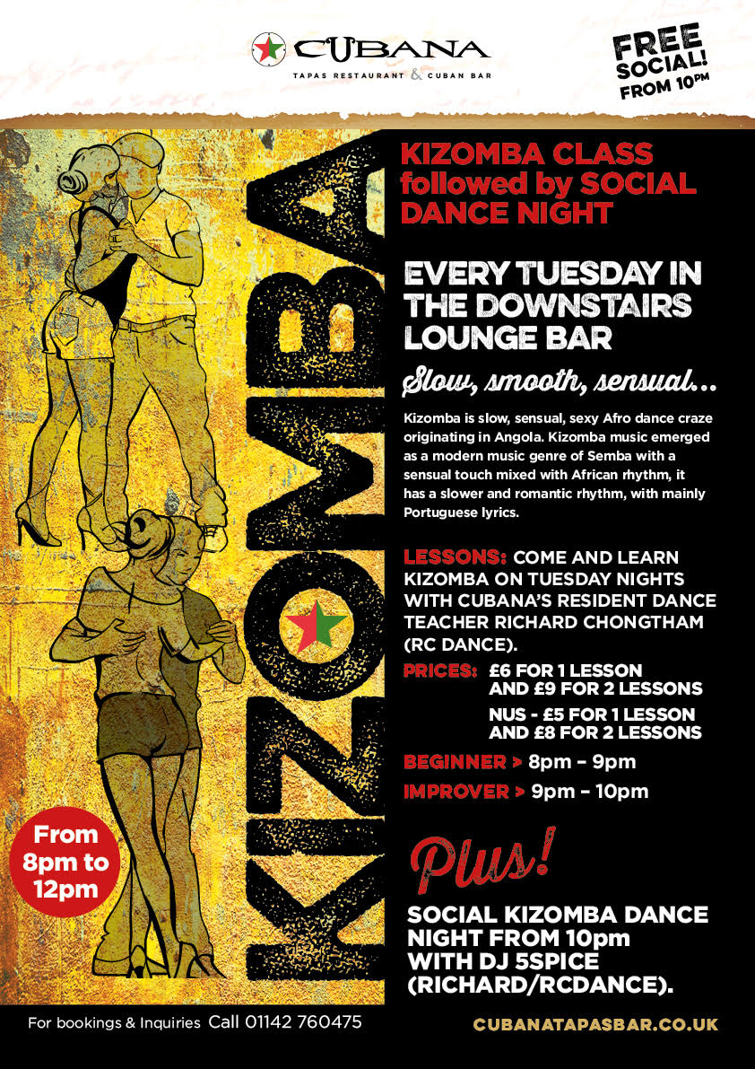 Kizomba on Tuesday's at Cubana